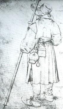Pilger. Pieter Bruegel der Ältere, ca. 1550