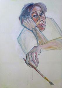 Selbst - Acryl auf Leinwand, 135x94 cm