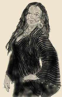 Portrait de Sayline réalisé par Noémie Bailly