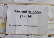 Suchschild im Supermarkt (Foto: Früherwisser Media)