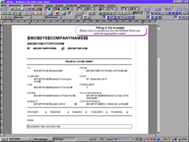 PC/GEOS Office Assistant template business fax