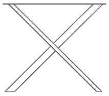 pied de table en x non symétrique