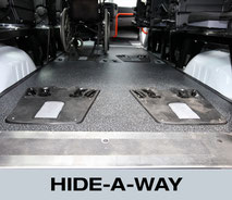 Hide-A-Way wheelchair restraint system