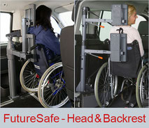 FutureSafe head and backrest for wheelchair users