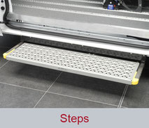 Powered, Manual and Fixed Steps for side entry