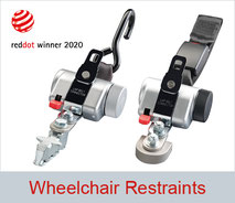 Wheelchair restraint systems