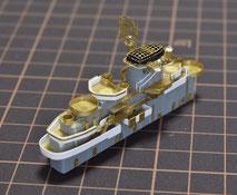 1/700 米航空母艦「バンカーヒル」(1945年2~3月頃)艦橋製作中◆模型製作工房 聖蹟