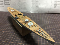 1/700 英国海軍 戦艦 デューク オブ ヨーク(Duke of York)  甲板製作中 ◆模型製作工房 聖蹟