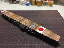 航空母艦 『赤城』 飛行甲板製作中 ◆模型製作工房 聖蹟