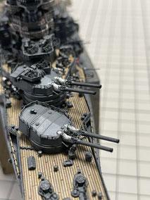 1/700 日本海軍 高速戦艦 『金剛』 1944 サマール沖海戦時 砲口煤表現 2021073 ◆模型製作工房 聖蹟