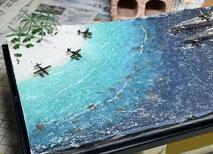 1/700 日本海軍 高速戦艦 『金剛』 1944 サマール沖海戦時 艦橋製作中 ◆模型製作工房 聖蹟
