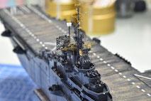 1/700 米航空母艦「バンカーヒル」(1945年2~3月頃)マスト製作中◆模型製作工房 聖蹟