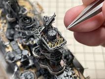 1/700 防空巡洋艦(重巡洋艦)艦橋設備製作中 『摩耶』◆模型製作工房 聖蹟