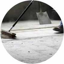 Baugrobreinigung, Bauzwischenreinigung, Baufeinreinigung und Bauschlussreinigung