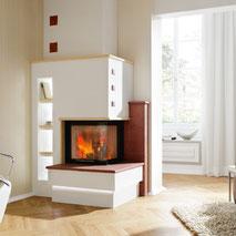 Heizkamin Gutbrod Feuer Kachel Keramik Kamin Ofen Wärme