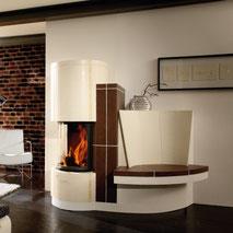 Kachelofen Gutbrod Sitzbank Kacheln Feuer Keramik Heizen Wärme Ofen