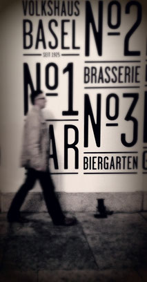 Man walking in Basel