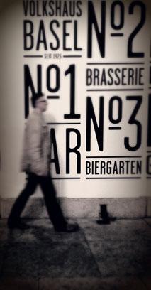 Man walking in Basel