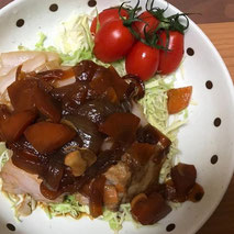 豚バラブロックの煮豚