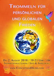 Trommeln für persönlichen und globalen Frieden