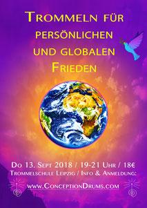 Trommeln für persönlichen und globalen Frieden • 13. September 2018 • Trommelschule Yngo Gutmann