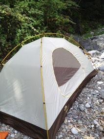 テント張り方