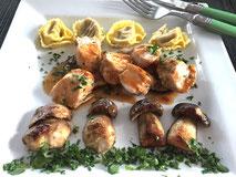 Kaninchenrücken+Steinpilze+++