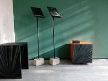 Moderne Möbel; Strohmarketerie; Furniture straw marquetry