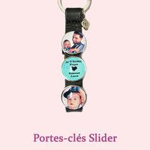 Porte-clés photo et texte personnalisé