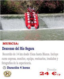 descenso en Rafting Murcia