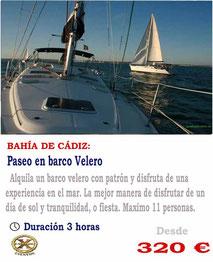 paseo en velero bahia de Cádiz
