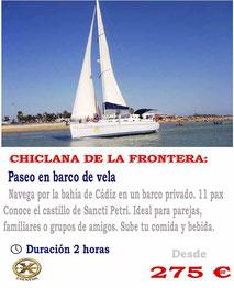 paseos privados en veleros Cádiz