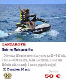 Ruta en moto acuática