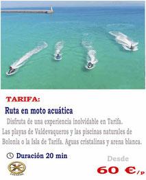 ruta en moto acuática por Tarifa