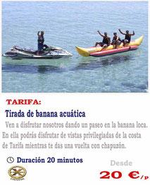 banana acuática Tarifa