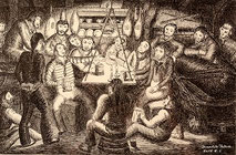 39-18 Seamen in their mess |   Masahiko FUKUDA