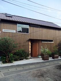 葉山A邸の外観