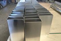 Lasergeschnittenes Aluminium welches auch noch kekantet wurde.