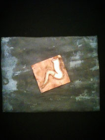 kamasutra icon,- lead, copper and enamel Zoltan Locarno