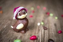 Kleine Ente aus Schokolade