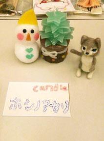 ホシノアカリさんのキャンドル細工