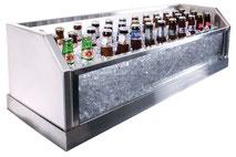 Verglaste Eiswanne und Flaschenkühler, ein echter Hingucker.