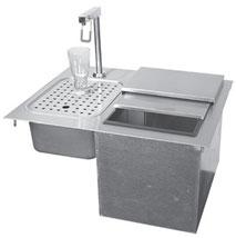 Getränkeeisfach und Sod Station als Einbaugerät, Gastroausführung.
