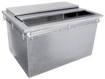 Einbau Eisbehälter für Getränke Eis, Edelstahl, Gastroausführung.