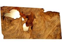 Kauri Holz Couchtisch mit Epoxid Harz, einzigartiger Holztisch und Designtisch