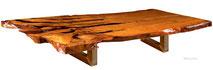 Großer Konferenztisch aus Kauri Wurzelholz, außergewöhnlicher Holztisch mit dicker Tischplatte, Epoxidharzfüllung