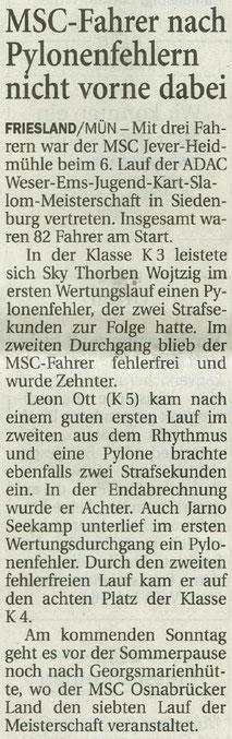 Wilhelmshavener Zeitung 15.06.2017