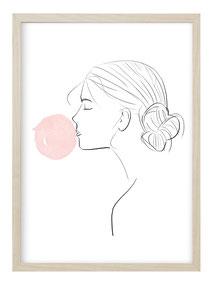 Abstrakte Kunstdrucke im skandinavischen Stil