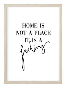 Bestseller Poster Home Spruch schwarz weiß