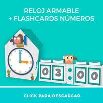 Pulsa aqui para descargar relojes didácticos mas flashcards